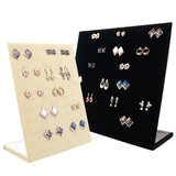 Display earrings vertical linen_
