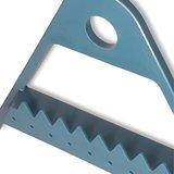 Oorbellenrekje - Driehoek donker blauw 29x5,3x25,5 cm - kunststof_