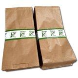 Bruine papieren zakjes met zijvouw 200 stuks 16x10x35 cm 3 pond / fruitzakken_