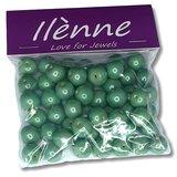 Glaskralen rond - Groen - 12 mm - 125 gram - kralen hobby volwassenen_