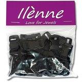Paracord sluiting - zwart - plastic - 25 stuks - voor armband_