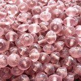 Glaskralen roze - plat ovaal - 9 x 6 mm - 125 gram - kralen hobby volwassenen_