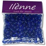 Glaskralen blauw - plat ovaal - 9 x 6 mm - 125 gram - kralen hobby volwassenen_