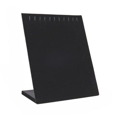 Ketting / armbanden display staand met haakjes zwart velours