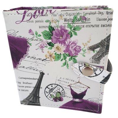 Boekje voor sieraden opbergen - print paars