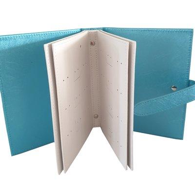 Boekje voor oorbellen opbergen - licht blauw
