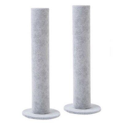 2 x Armbanden houder pilaar grijs velours