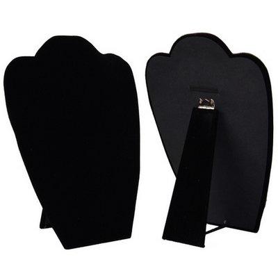 Ketting display hals inklapbaar zwart 30 cm