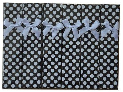Verpakkingsdoosjes armband zwart stippen
