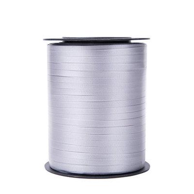 Krullint grijs 5 mm 500 mtr / cadeau lint