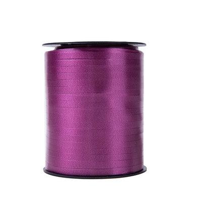 Krullint donker paars 5 mm 500 mtr / cadeau lint