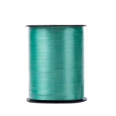 Krullint blauw - groen 5 mm 500 mtr / cadeau lint