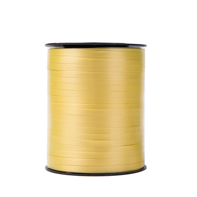 Krullint geel 5 mm 500 mtr / cadeau lint