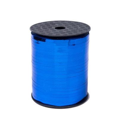 Krullint blauw glans 5 mm 500 mtr / cadeau lint