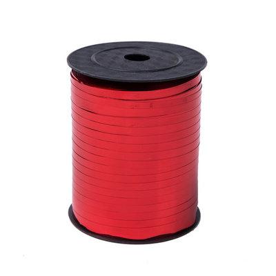 Krullint rood glans 5 mm 500 mtr / cadeau lint