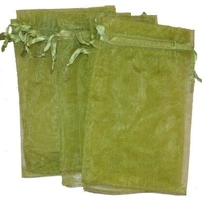 Organza zakjes olijfgroen 10 x 15 cm