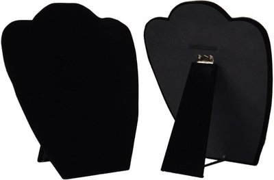 2x Display hals inklapbaar zwart 22 cm