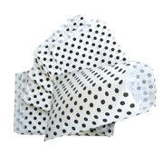 Fournituren zakjes 10x16 cm wit met zwarte stippen