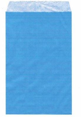 Fournituren zakjes 10x16 cm blauw