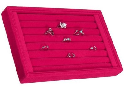 Display ringen box / bak klein roze
