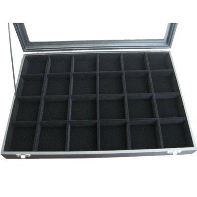 Display multibox 24 vaks zwart velours