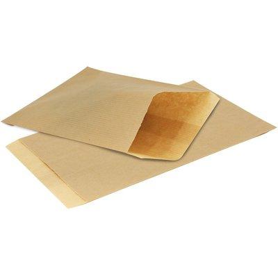 Papieren zakjes 15x22 cm bruin 50 grams kraftpapier (50 stuks)