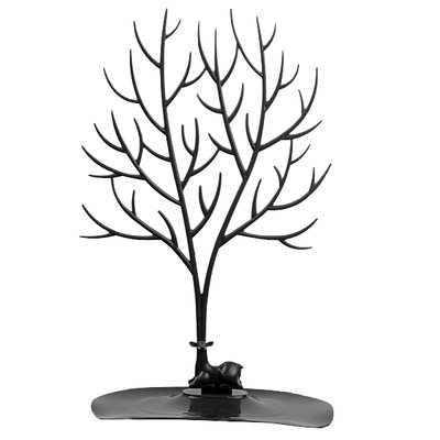 Sieradenboom Hert met groot gewei - Zwart 25x15x41xcm