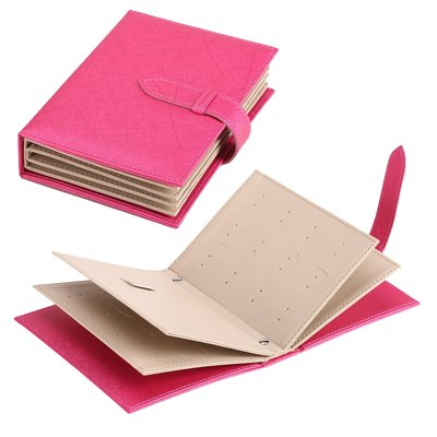 Boekje voor oorbellen opbergen - Fuchsia Roze