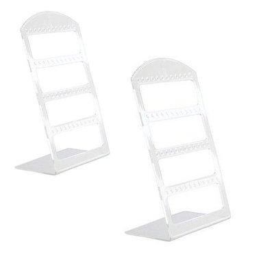 2x Display oorbellen (klein) 24 paar Transparant / oorbellenhouder