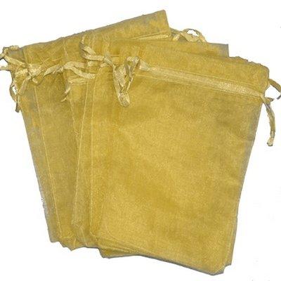 Organza zakjes 10x15 cm goud (100 stuks) / cadeauzakjes