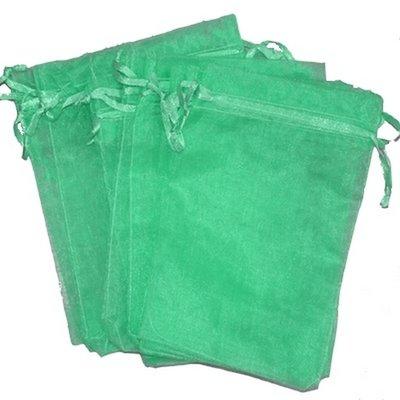 Organza zakjes 10x15 cm zee groen cm (100 stuks) / cadeauzakjes