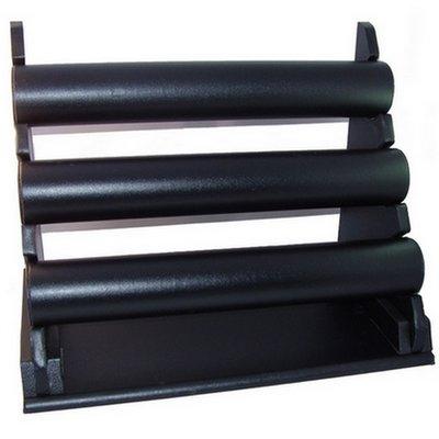 Juwelen houder armbanden - 3 Rollen - Zwart Lederlook / Sieradenhouder