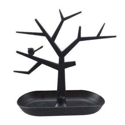 Sieradenboom zwart met bakje
