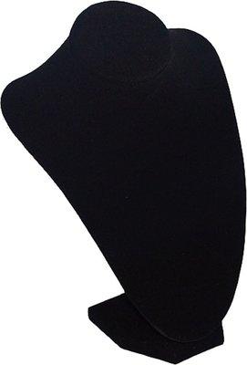 Display hals zwart velours 24 cm