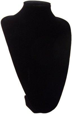 Display hals zwart velours 35 cm