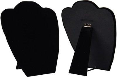 Display hals inklapbaar zwart 22 cm