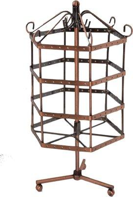 Display oorbellen molen zeshoek (72 p) koper