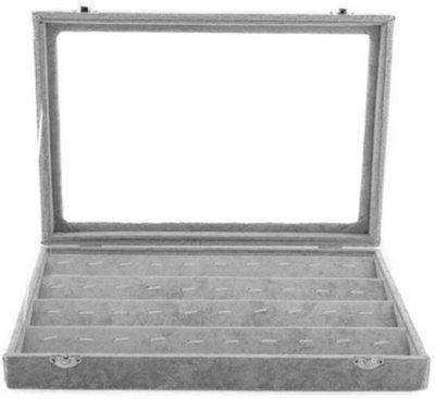 Bedel / hanger display doos Grijs met deksel