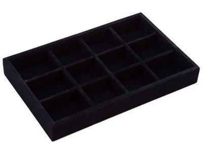 Display box 12 vaks klein zwart