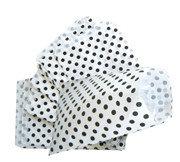 Fournituren zakjes 17,5x25 cm wit met zwarte stippen