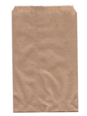 Fournituren zakjes 12x18 cm bruin