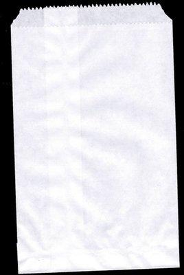 Papieren zakjes 13x18 cm wit 50 stuks