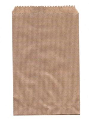 Fournituren zakjes 15x22 cm bruin