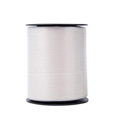 Krullint wit 5 mm 500 mtr / cadeau lint