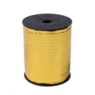 Krullint goud glans 5 mm 500 mtr / cadeau lint