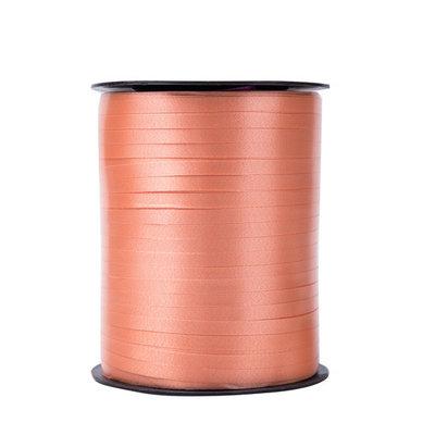 Krullint zalm 5 mm 500 mtr / cadeau lint