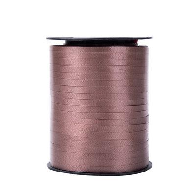 Krullint bruin 5 mm 500 mtr / cadeau lint