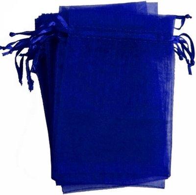 Organza zakjes blauw 10 x 15 cm