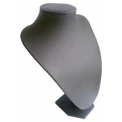 Ketting display hals zwart lederlook 30 cm