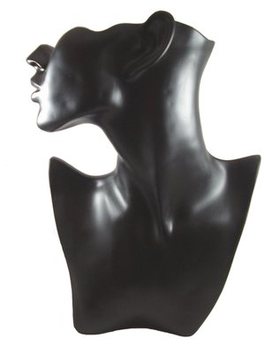Displayhoofd / buste voor ketting & oorbel zwart